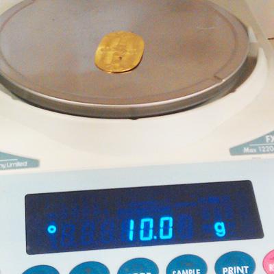 買取品、K24小判の重量